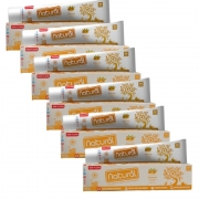 Creme Dental Natural Vegano c/ Extratos de Cúrcuma, Cravo e Melaleuca. 80g Suavetex (Kit com 6)