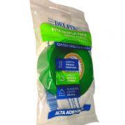 Fita Dupla Face- Gel- Transparente- Alta Aderência - Delfix - 24mm x 2m- 5 rolos