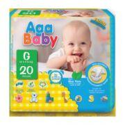 Fralda Descartável Aga Baby - 6Pacotes c/ 20 fraldas cada (total 120 fraldas)