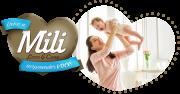 Fralda Descartável Mili - Love & Care - Linha Premiun - Tamanho M - 3 Pacotes