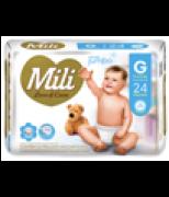 Fralda Descartável Mili Love&Care - Tam. G- 5 Pacotes (=120 fraldas)