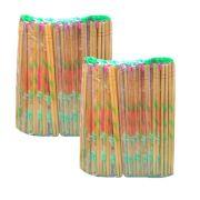 Hashi Descartável de Bambu 2 Pacotes com 100 pares (Total: 200 Pares)
