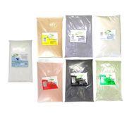 Kit Dolomita + Argilas:  Branca Preta Verde Cinza Amarela Verde 100% Pura Ervas e Raízes
