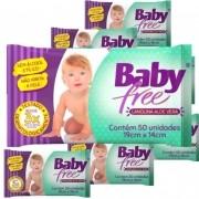 Lenço Umedecido Baby Free  (Toalha Umedecida)  12 Pacotes  com 50 unidades  (Total: 600 lenços)