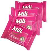 Lenço Umedecido ou Toalhinha de Higiene Íntima   MILI  12  pacotes com 20 Lenços  Total: 240