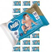 Lenço Umedecido / Toalha Umedecida Bebe - 24 Pacotes com 50 Unidades cada( Total: 1200 toalhinhas)