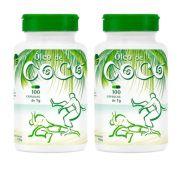 Óleo de Coco em Cápsulas Chamel   2 Frascos com 100 Cápsulas de 1g