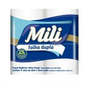 Papel Higienico Folha Dupla- 30m- Mili