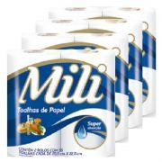 Papel Toalha Mili - 8 Rolos c/ 55 Folhas