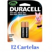Pilha AAA 1,5V MN2400 Duracell - 12 cartelas