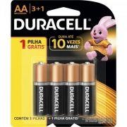 Pilha Alcalina AA  MN1500B4 Blister Duracell - 12 cartelas com 4 pilhas (total 48)