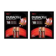 Pilha Alcalina Quantum AA  Duracell - 2 Cartelas com 2 Pilhas    (total: 4 pilhas)