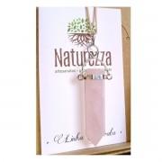 Pingente Quartzo Rosa  c/prateado (Perfumeira para Aromaterapia ou  Difusor Pessoal)
