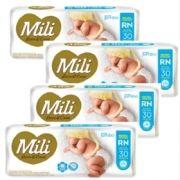 Promoção Fralda Mili RN - Love & Care - 4 Pacotes