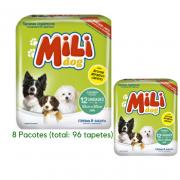 Tapete HIGIENICO- Mili DOG- CAES- 8 Pacotes C/12 Tapetes