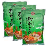 Wasabi em Pó  Importado - Raiz Forte - 3 Pacotes de 1,01Kg