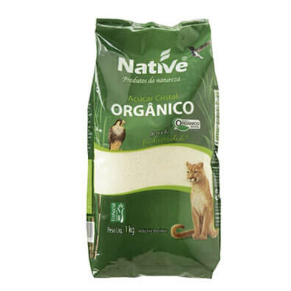 Açúcar Cristal  Orgânico Claro NATIVE 1kg