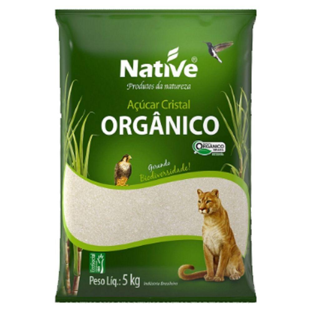 Açúcar Cristal  Orgânico Claro NATIVE 5kg