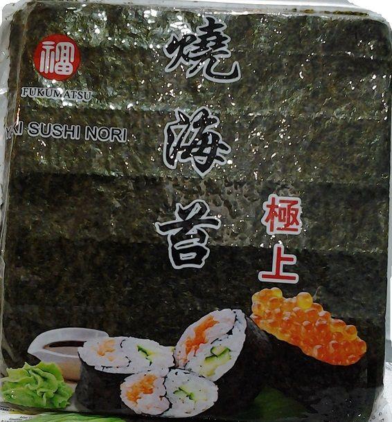 Nori Pacote c/ 50 Folhas - Especial Para Sushi, Temaki- Fukumatsu