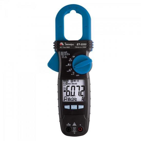 Alicate Amperimetro Digital ET3333 AZUL/PRETO Minipa
