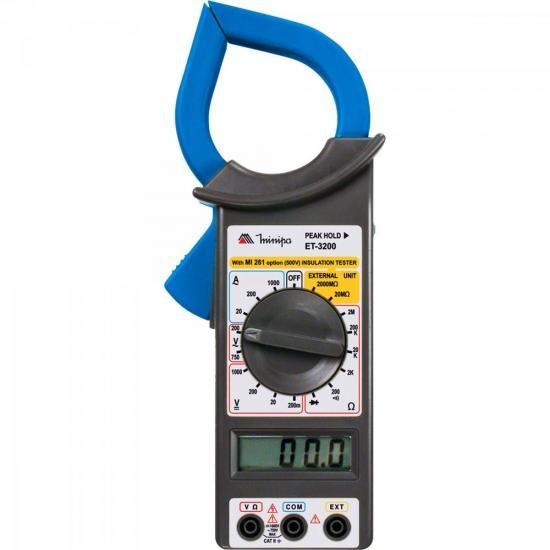 Alicate Amperimetro Digital ET-3200 AZUL/PRETO Minipa