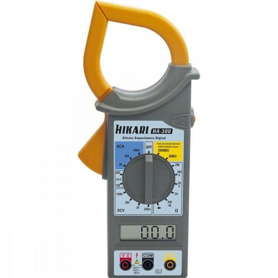 Alicate Amperimetro Digital HA300 Hikari