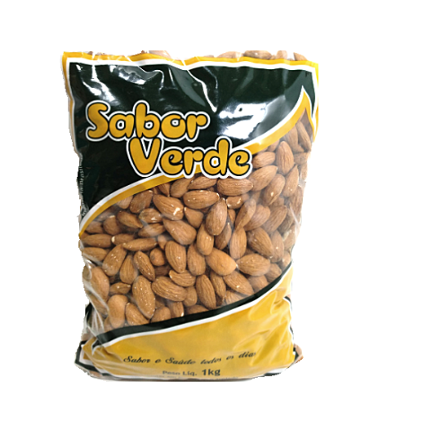 Amendoa Crua - 3 Kg - Sabor Verde