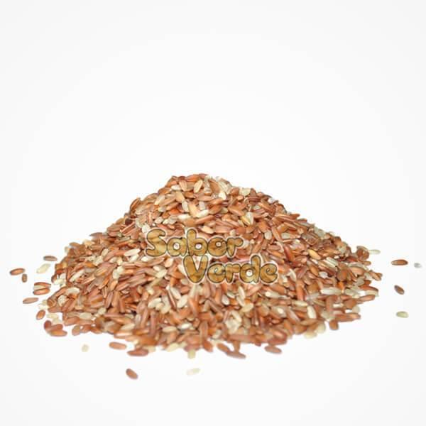 Arroz Cateto Integral Vermelho- 1kg (granel) - Sabor Verde