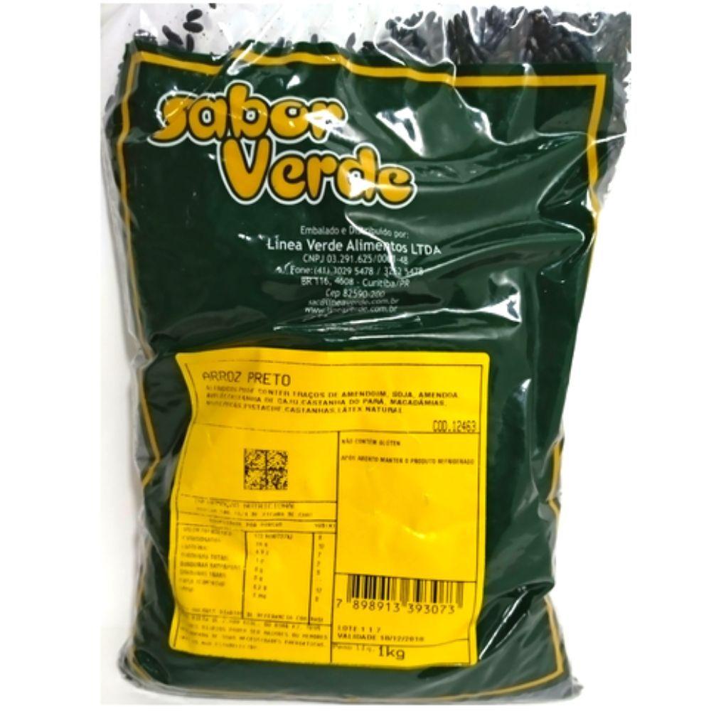 Arroz Preto Integral - 3 Pacotes de 1  Kg - Sabor Verde