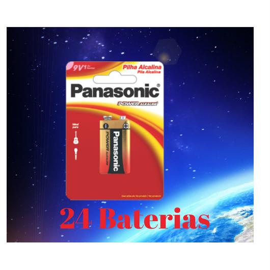 Bateria 9V Alcalina 6LF22XAB/1B24 Panasonic - 24 Baterias