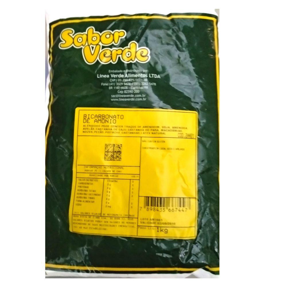 Bicarbonato de Amônio - Sal Amoniaco - 1 Kg Sabor Verde