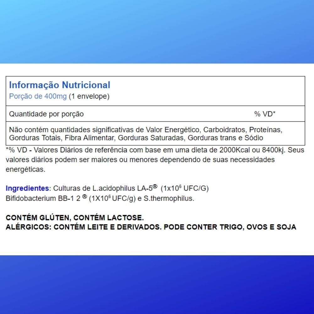Bio Rich® Fermento Lácteo 3  Cartelas C/ 3 Sachês Para Fazer Iogurte Natural (total: 9 Sachês)