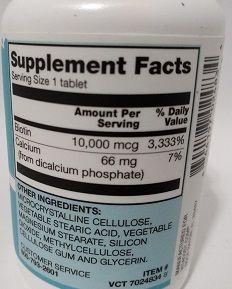 Biotina 10,000 Mcg - Vitacost - Biotin (vitamina B7, Ou H)