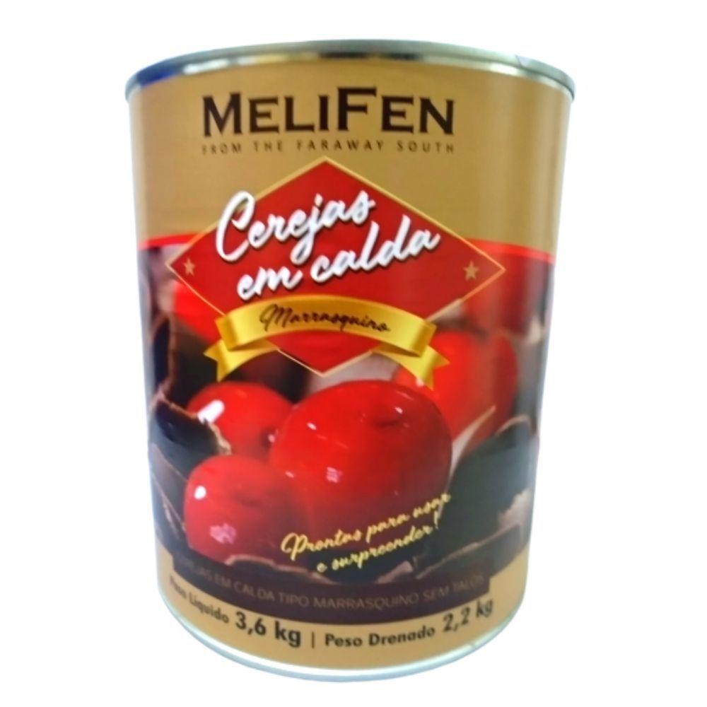 Cereja em Caldas  Marrasquino  MeliFen  3,6 kg  peso drenado 2,2 kg   sem talos