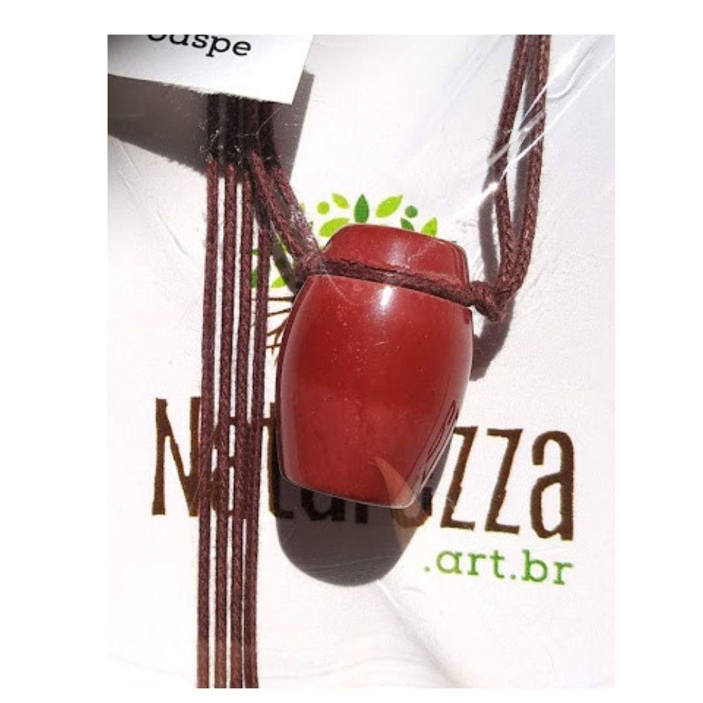 Colar de Jaspe Tamborzinho (Perfumeira p/ Aromaterapia ou  Difusor Pessoal)