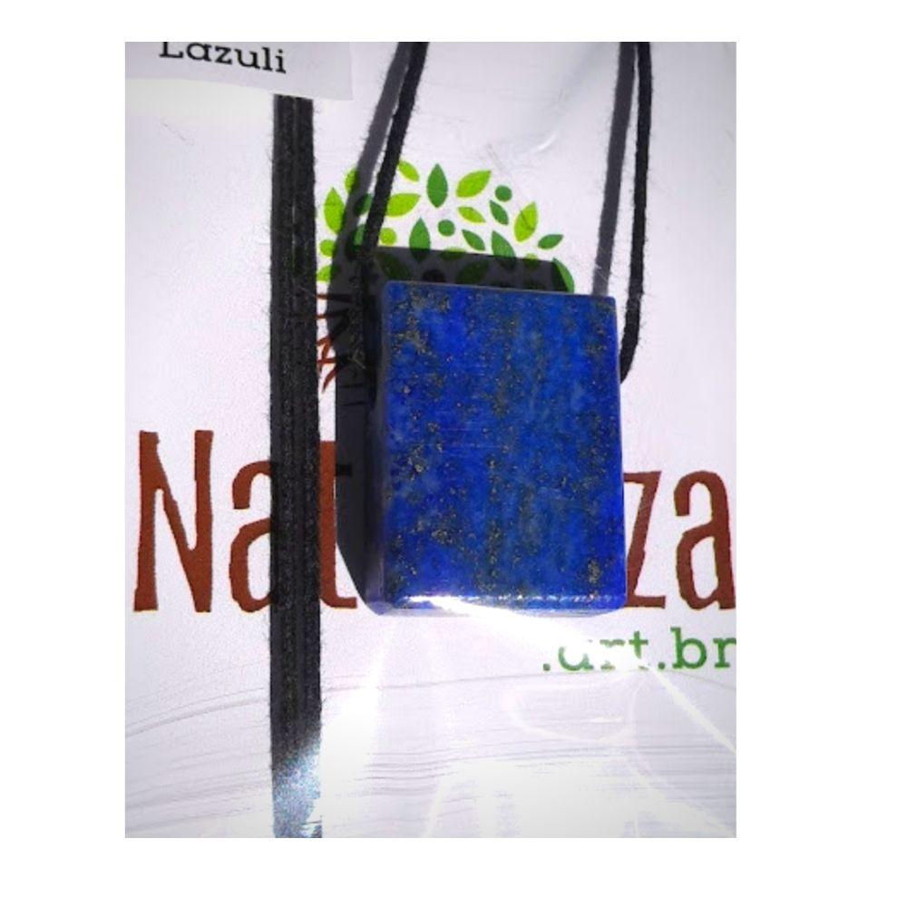 Colar de Lápis Lazúli  minimalista (Perfumeira p/ Aromaterapia ou  Difusor Pessoal)