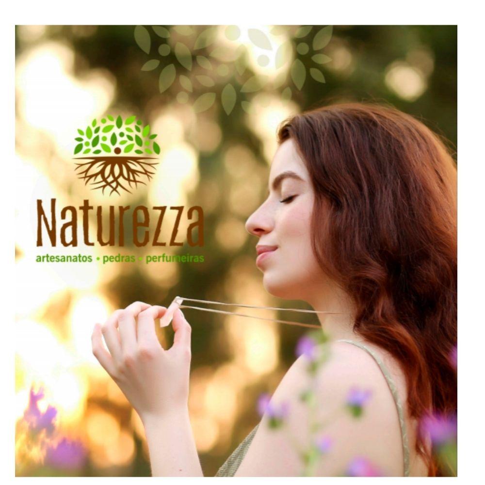Colar de Olho de Tigre  c/ cordão de algodão ( Perfumeira p/ Aromaterapia ou  Difusor Pessoal) minimalista