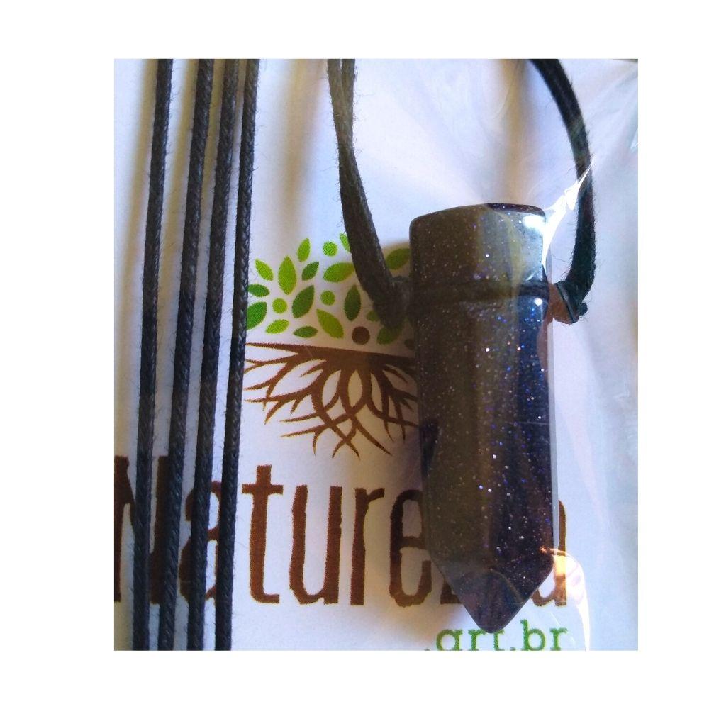 Colar de Pedra Estrela c/ cordão de algodão ( Perfumeira para Aromaterapia ou  Difusor Pessoal)