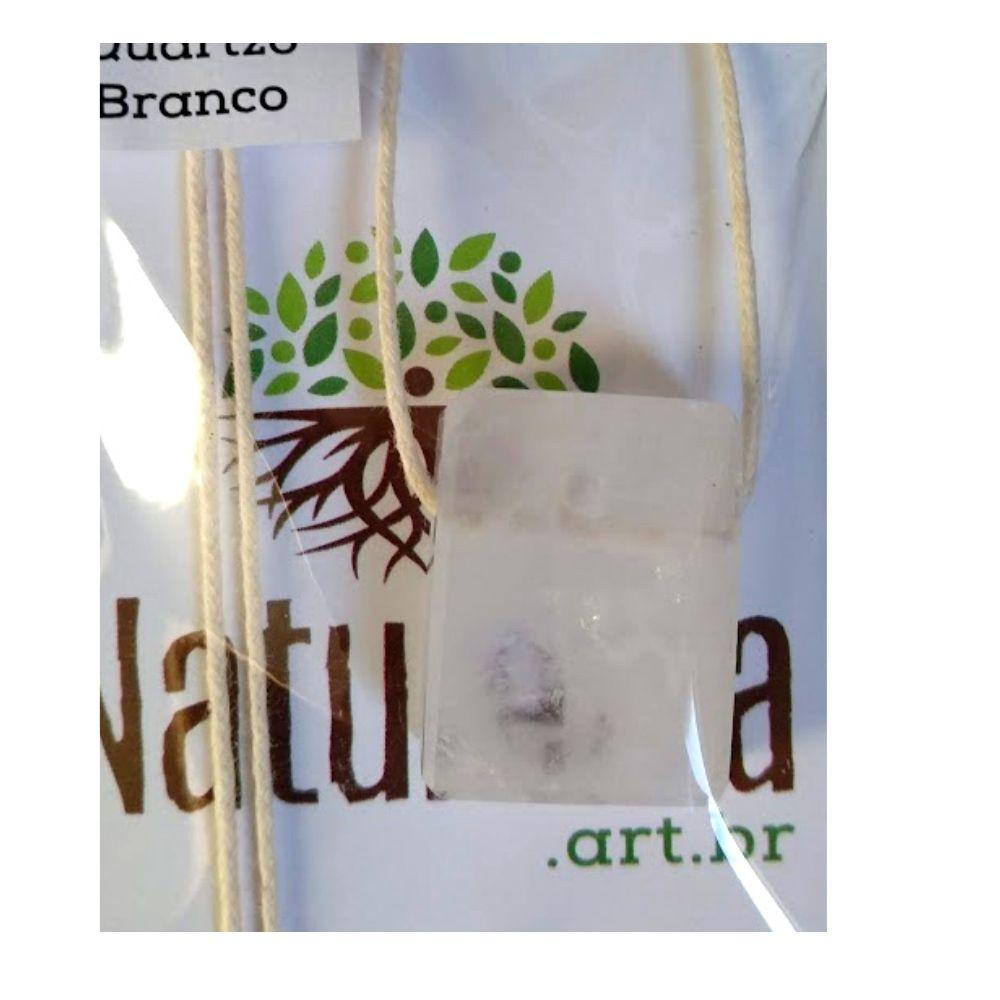 Colar de Quartzo Branco  c/ cordão de algodão ( Perfumeira p/ Aromaterapia ou  Difusor Pessoal) minimalista