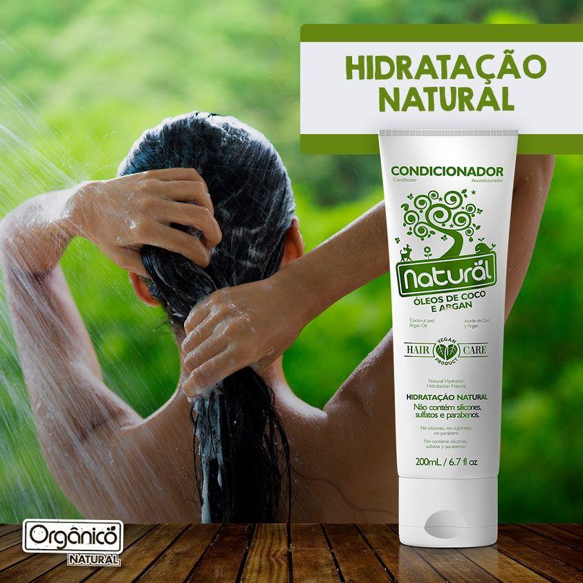 Condicionador Natural com Óleos de Coco e Argan - 200 ml  Vegano