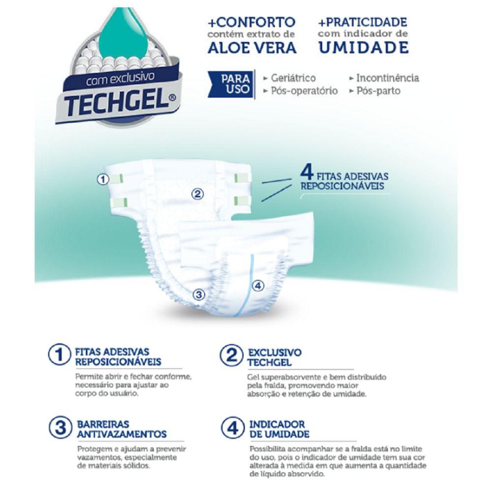 Fralda Adulto / Pós Operatório/ Geriatrica -Tam XG- Mili Vita - 2 Pacotes com 21 unidades
