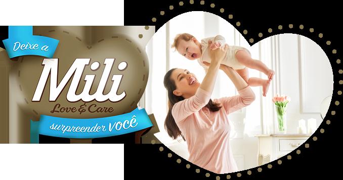 Fralda Descartável Mili- Love& Care- Linha Premiun- Tamanho M- 4 PACOTES (total=104 Fraldas)