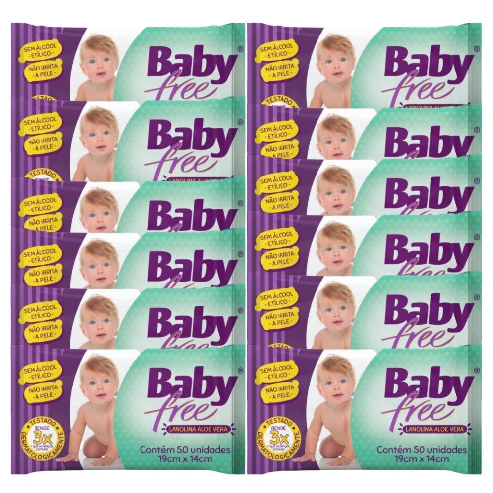 Lenço Umedecido Baby Free 36 Pacotes c/ 50 un(=1800 lenços)
