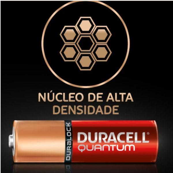Pilha Alcalina Quantum AA  Duracell - Cartela com 2 Pilhas