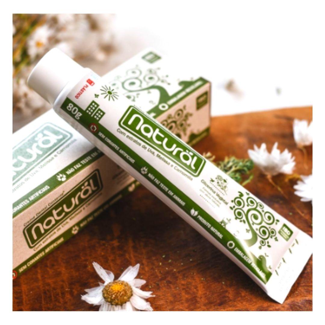 Creme Dental Vegano Suavetex Natural com ingredientes orgânicos e naturais 80g  - 5 caixas