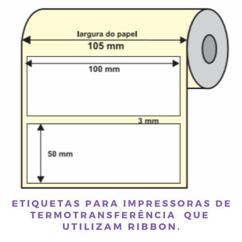 Etiqueta Couche 100X50MM Delfix