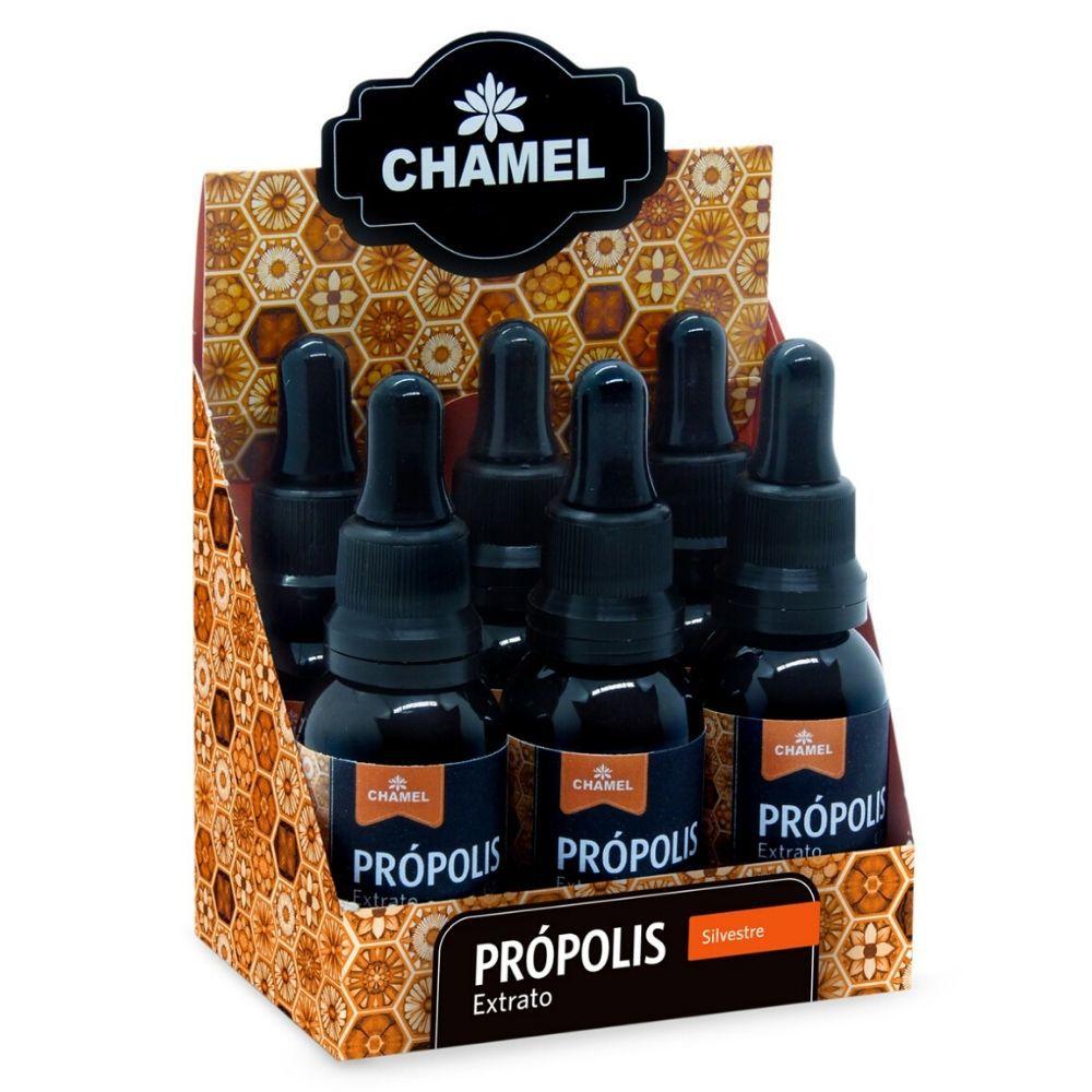 Extrato de Própolis 30ml   30% de Concentração  Chamel    6 Frascos