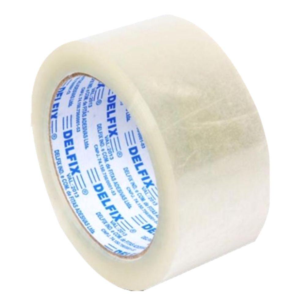 Fita Adesiva para Embalagens  45mmx100m    3 Rolos   Delfix   Transparente