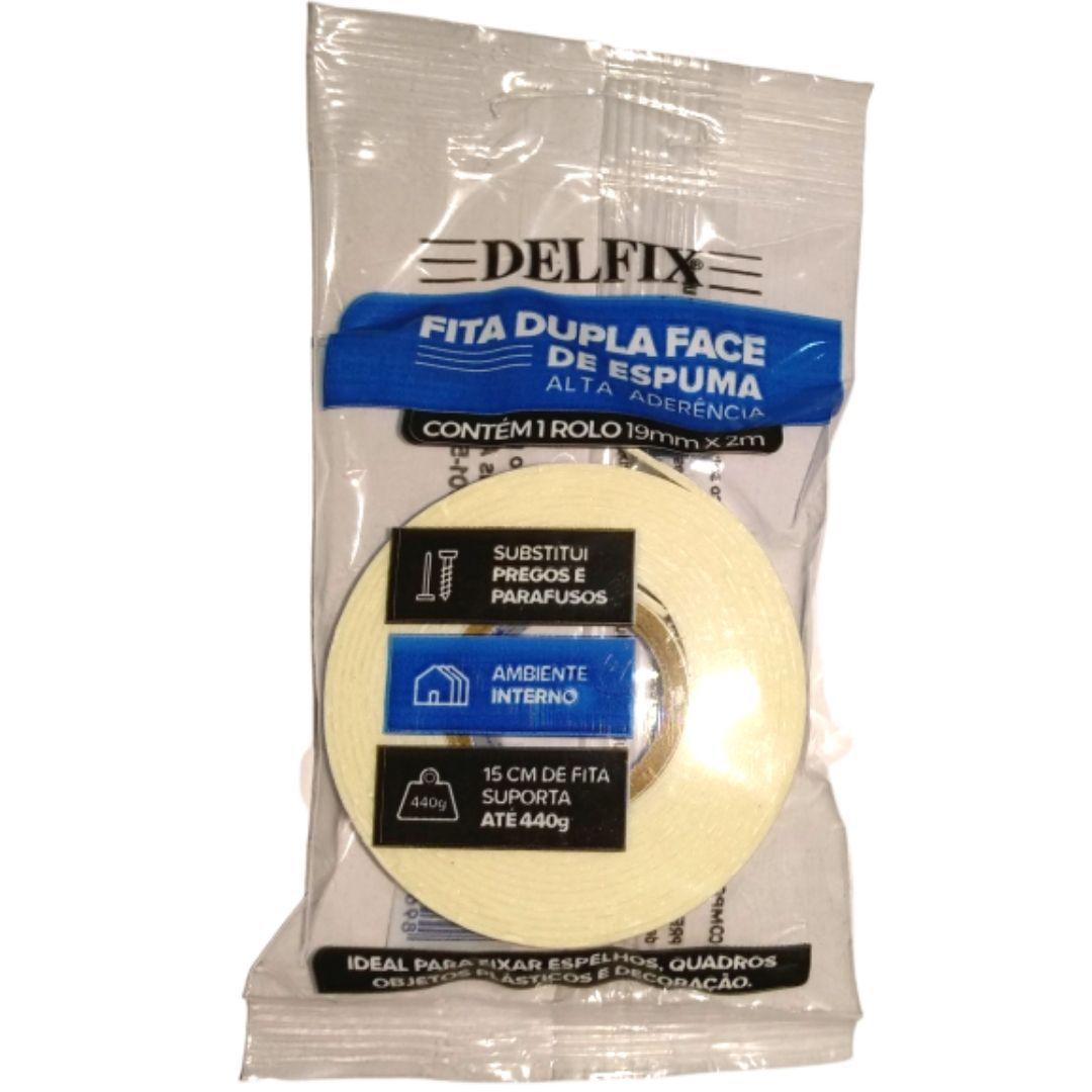 Fita Dupla Face de Espuma - Delfix -19mmx2m- Bananinha