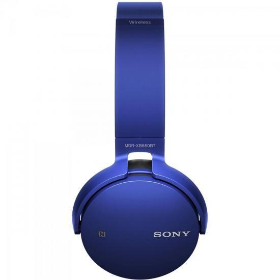 Fone de Ouvido Wireless Bluetooth com Microfone MDR-XB650BT AZUL SONY